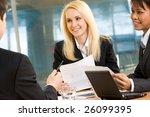 image of attractive women... | Shutterstock . vector #26099395