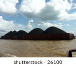 Small photo of River Coal transportation. using barge/scow.