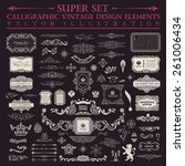 calligraphic design elements....   Shutterstock .eps vector #261006434