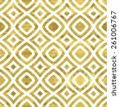 white and gold  pattern.... | Shutterstock .eps vector #261006767