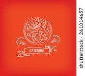catering service  design logo.  | Shutterstock .eps vector #261014657