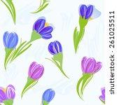 abstract flower seamless...   Shutterstock .eps vector #261025511