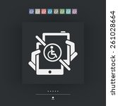 handicap tablet connection | Shutterstock .eps vector #261028664