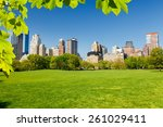 central park at sunny day  new... | Shutterstock . vector #261029411