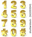 numerical digits collection  0  ... | Shutterstock . vector #261033341