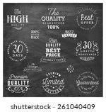 premium quality badges and... | Shutterstock .eps vector #261040409