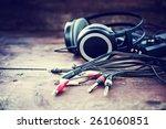 headphones and dj equipment | Shutterstock . vector #261060851