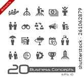 business concepts icon set   ... | Shutterstock .eps vector #261062879