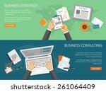 flat design modern vector...   Shutterstock .eps vector #261064409