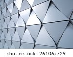 abstract silver background | Shutterstock . vector #261065729