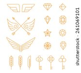 vector set of outline design... | Shutterstock .eps vector #261069101