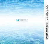 vector realistic water...   Shutterstock .eps vector #261078227