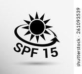 black and silver metallic spf... | Shutterstock .eps vector #261093539