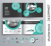 black brochure template design...   Shutterstock .eps vector #261099407