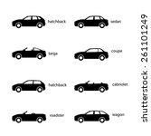 variants of car body. set of... | Shutterstock .eps vector #261101249