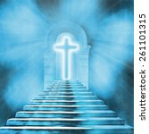 glowing holy cross and... | Shutterstock . vector #261101315