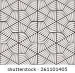 seamless linear pattern.... | Shutterstock .eps vector #261101405
