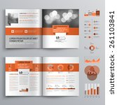 classic brochure template... | Shutterstock .eps vector #261103841