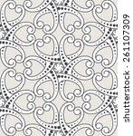 vintage seamless pattern with...   Shutterstock .eps vector #261107309