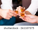 three people with rum shots | Shutterstock . vector #261107375