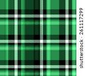 green tartan seamless background | Shutterstock . vector #261117299