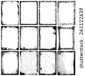 frames   textures | Shutterstock .eps vector #261122639