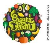 organic farm vector concept...   Shutterstock .eps vector #261123731