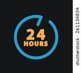 24 hours customer service. | Shutterstock . vector #261134834