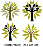 decorative olive tree | Shutterstock .eps vector #261135605