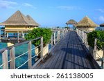 walkway leading to over the...   Shutterstock . vector #261138005