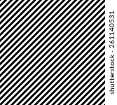 black   white diagonal stripes... | Shutterstock . vector #261140531
