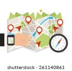 gps app design  vector... | Shutterstock .eps vector #261140861