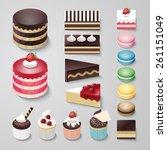Cakes Flat Design Dessert...