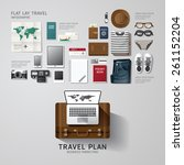 infographic travel business... | Shutterstock .eps vector #261152204
