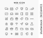 36 web line icon on minimal... | Shutterstock .eps vector #261164411
