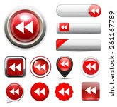 media  player button icon | Shutterstock .eps vector #261167789