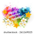 abstract summer background with ... | Shutterstock .eps vector #261169025