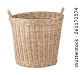 Handmade Wicker Basket With Two ...