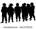people of special police force... | Shutterstock .eps vector #261173315