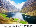 naeroyfjord   fjord landscape... | Shutterstock . vector #261174095