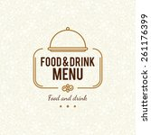 restaurant menu design. vector... | Shutterstock .eps vector #261176399