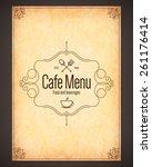restaurant menu design. vector... | Shutterstock .eps vector #261176414