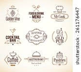 vintage logotypes and labels... | Shutterstock .eps vector #261176447