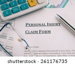 personal injury claim form | Shutterstock . vector #261176735