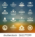 summer holidays design elements ... | Shutterstock .eps vector #261177299