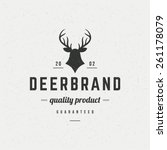 Deer Head Design Element In...