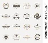 retro vintage premium quality... | Shutterstock .eps vector #261178307