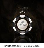 casino card design vintage...   Shutterstock .eps vector #261179201