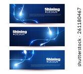 set of  fyer design template... | Shutterstock .eps vector #261180467