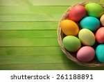 Painted Easter Eggs Basket